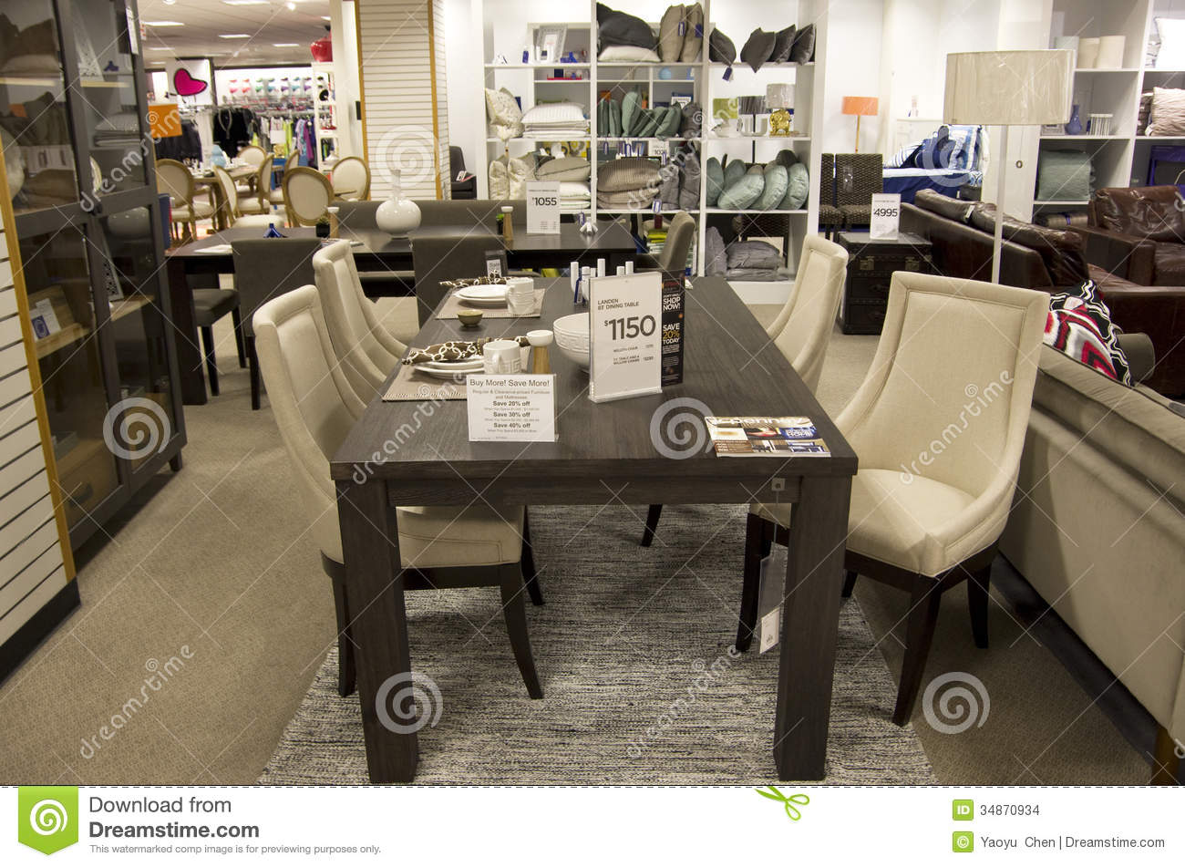 Home Furniture Department Store Editorial Stock Image Image Of