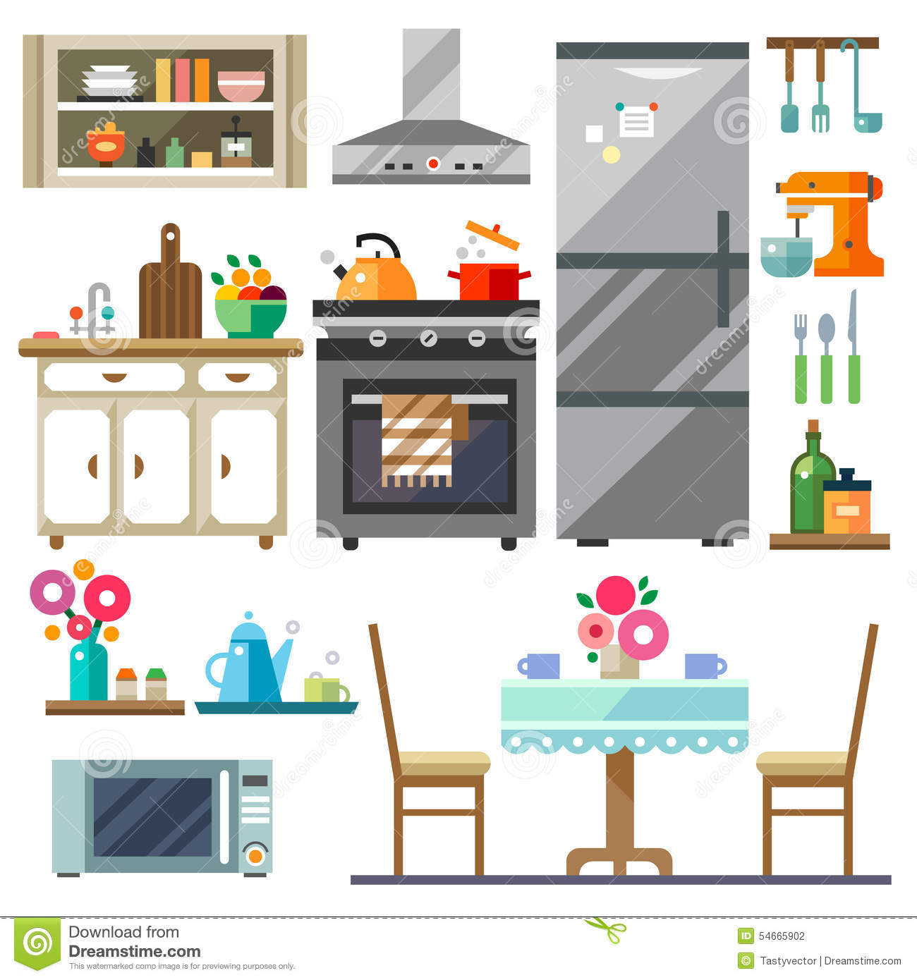 Home Furniture Stock Vector Image 54665902