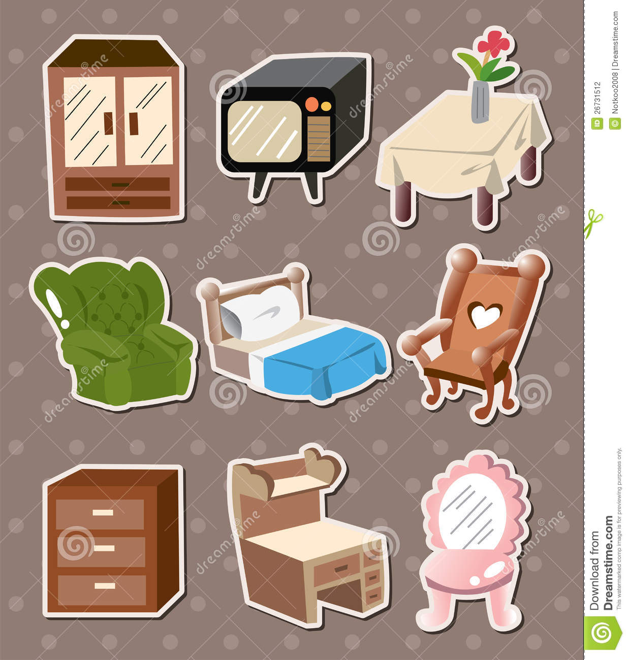 Home Furniture Stickers Stock Photography Image 26731512