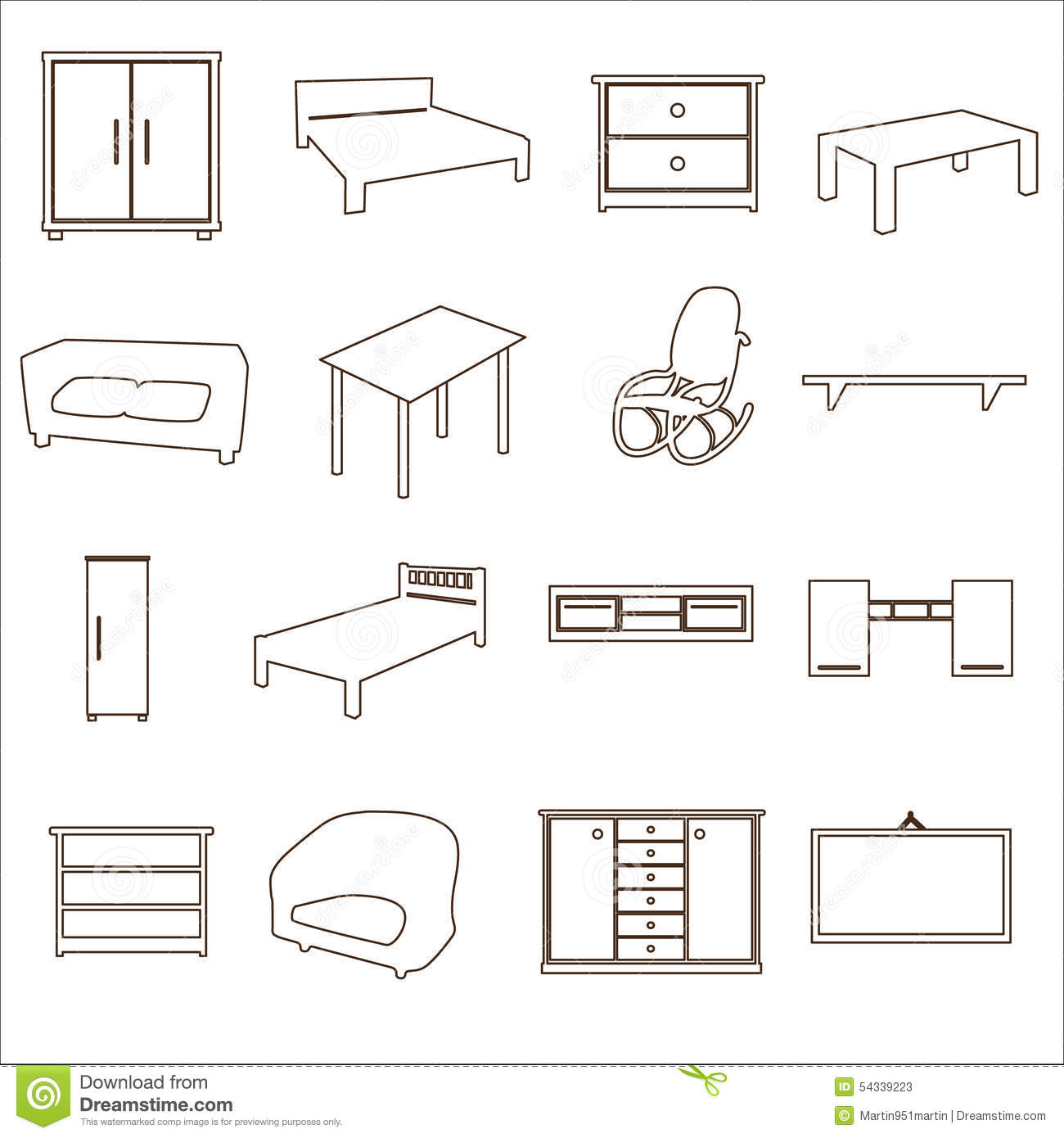 Furniture and home icons vector illustration - Como hacer un mueble para tv ...