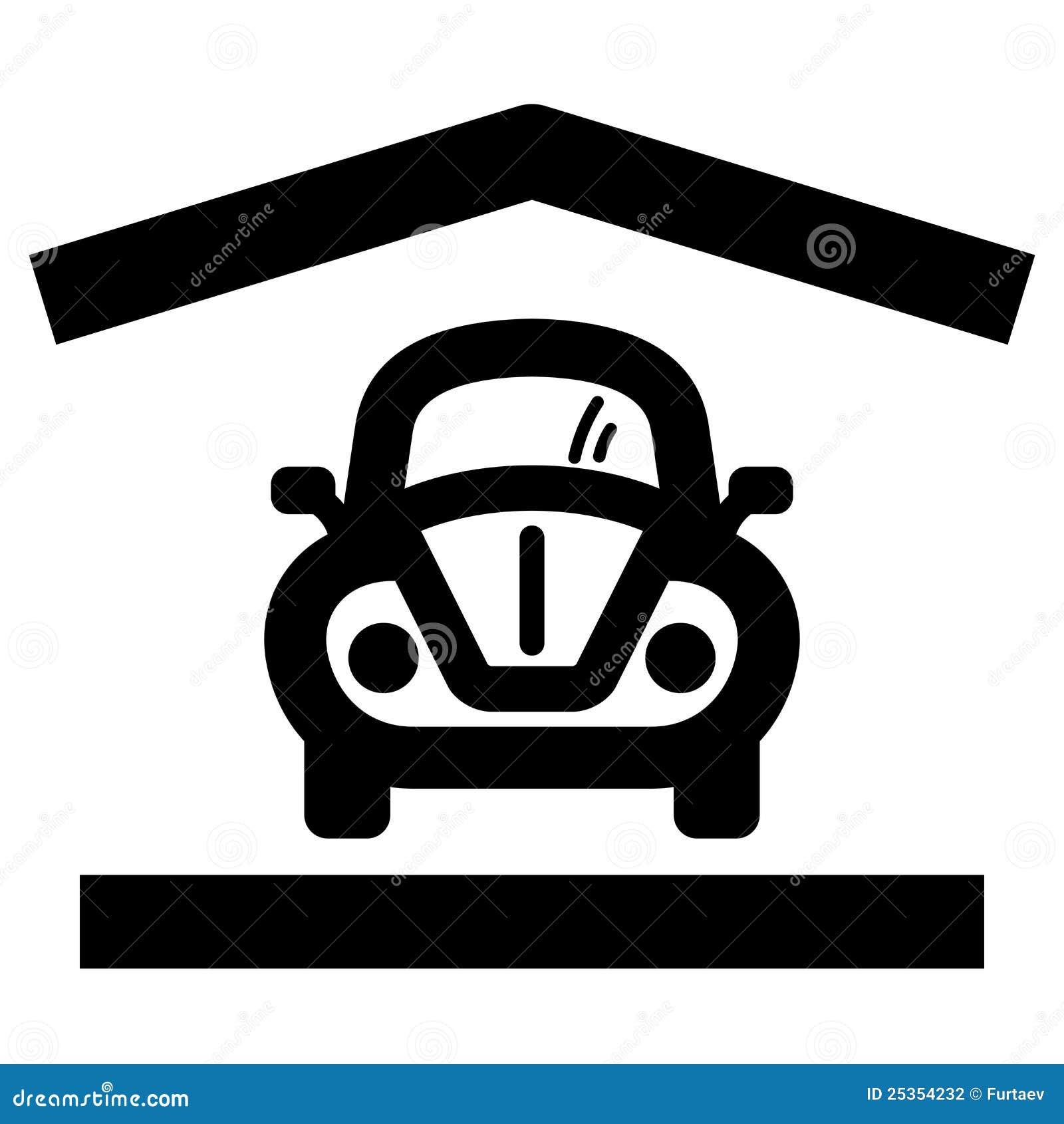 Home Garage Icon Stock Photography Image 25354232
