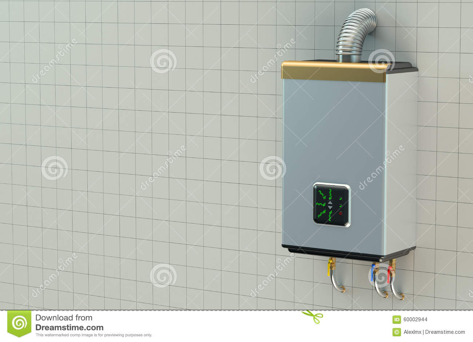 Home Gas Boiler, Water Heater Stock Illustration - Illustration of ...