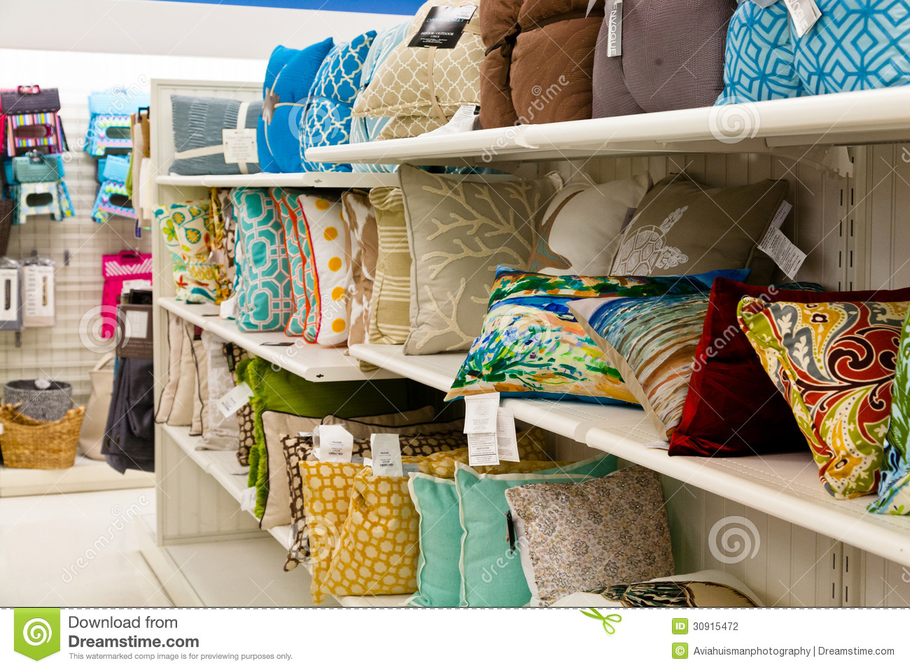 Home Goods Accent Pillows Editorial Photography Image