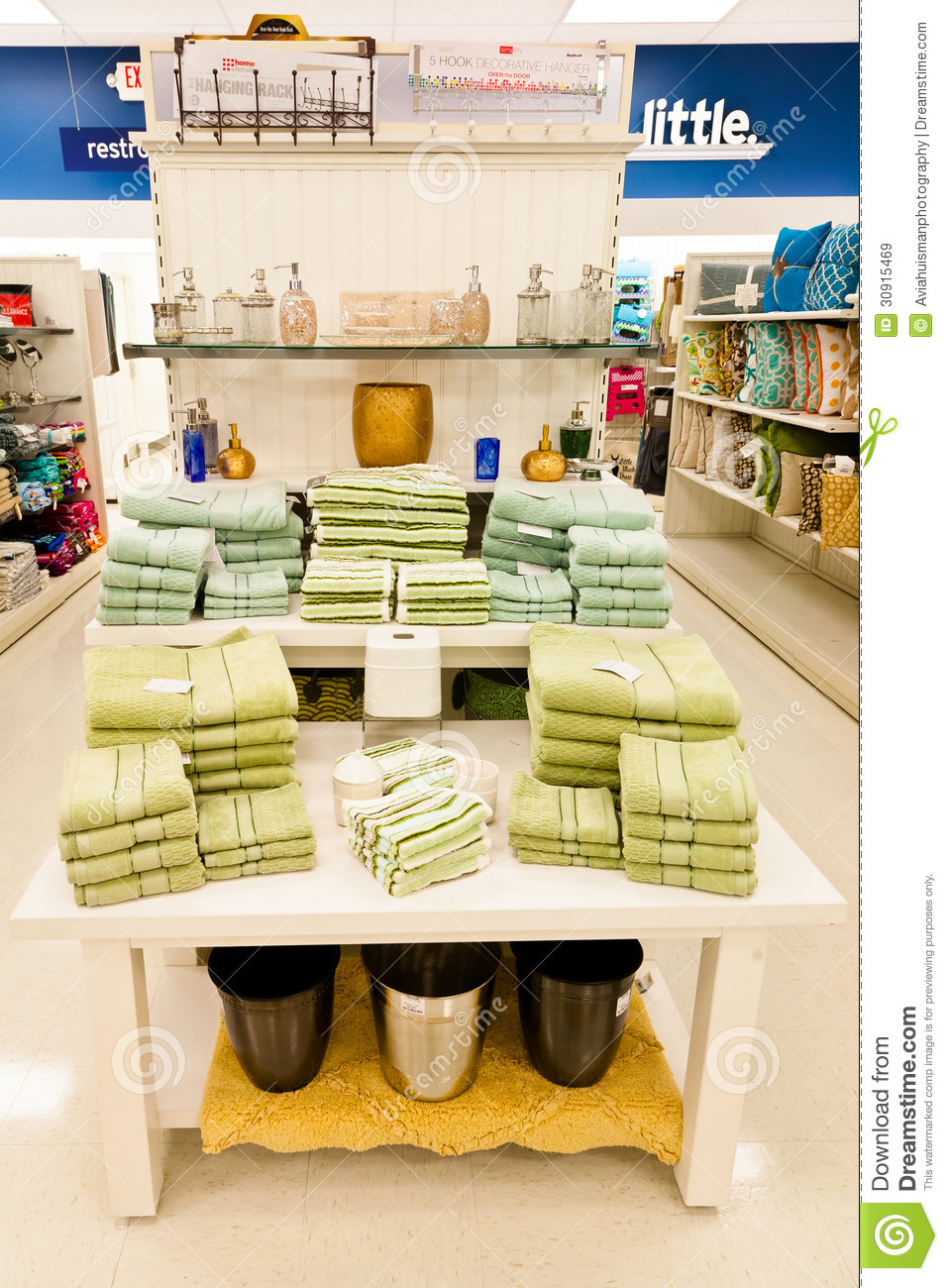 Home goods bathroom decorations editorial stock image for Decoration goods