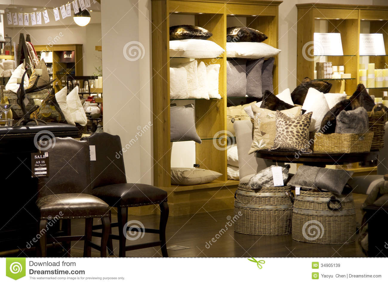 Home goods store stock image image of lighting decor for Decoration goods