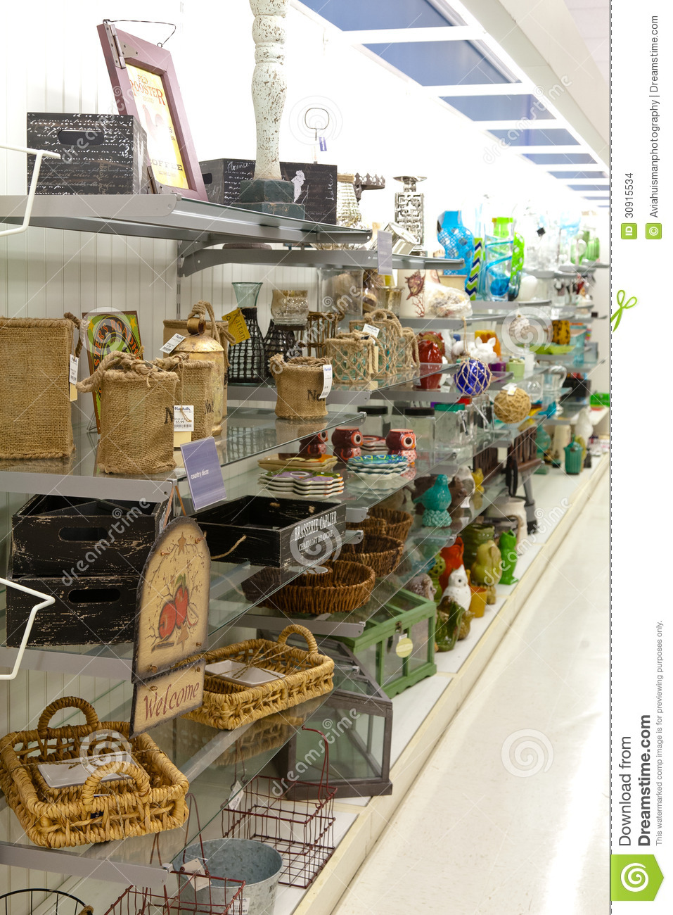 decoration goods home items shelves store. Home Goods Store Editorial Stock Image   Image  30915534