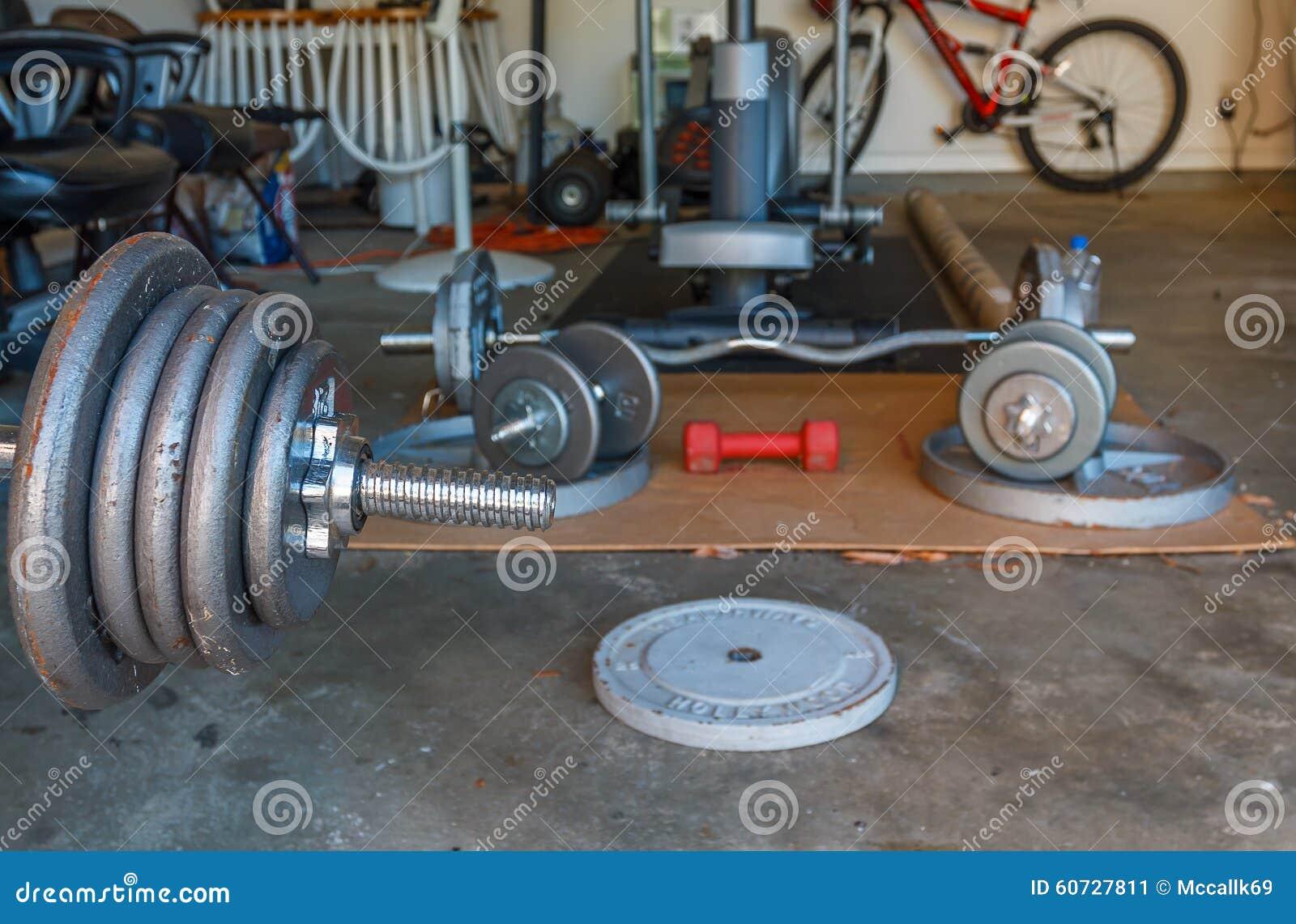 Home gym stock image image of station iron created
