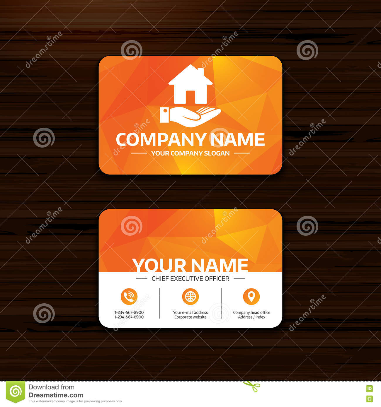 Home And Hand Sign Palm Holds House Symbol Stock Vector