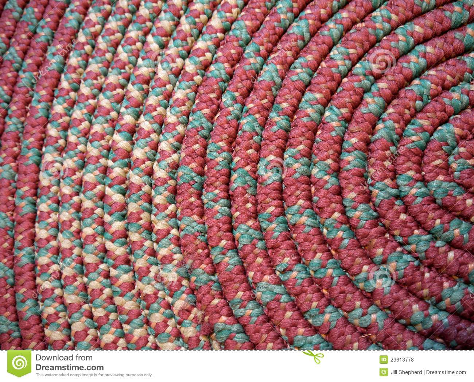 Home Handmade Coiled Rag Rug Stock Photo Image Of Made
