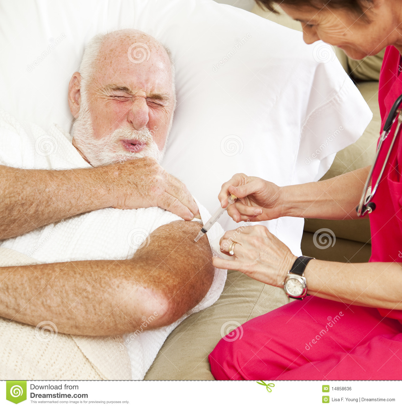 Home Healthcare - Painful Injection Royalty Free Stock Image - Image ...