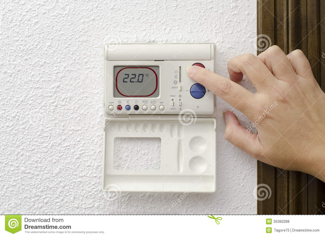 Home heating and cooling royalty free stock photos image for Heat setting for home