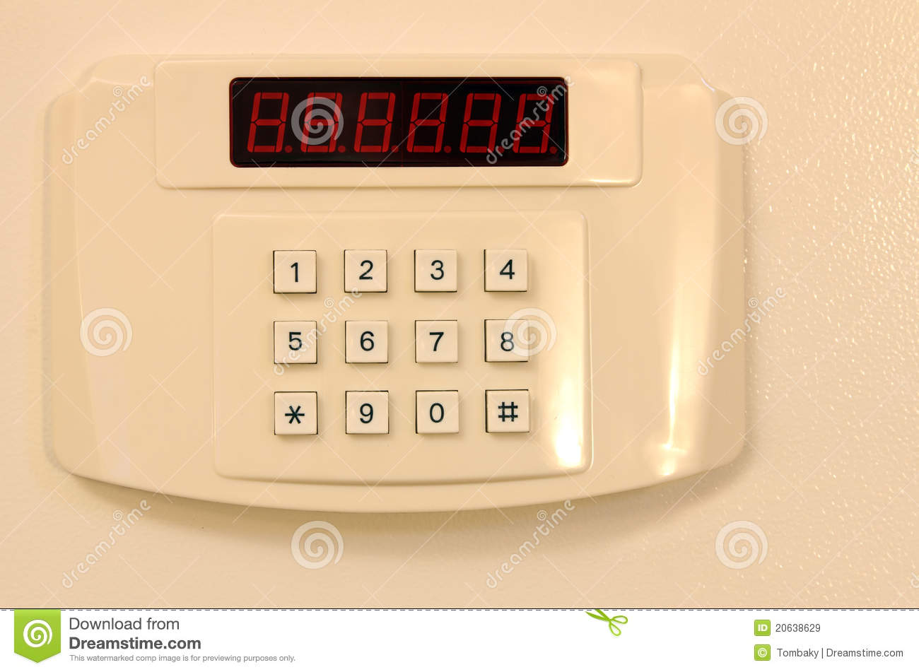 Home or hotel wall safe with keypad