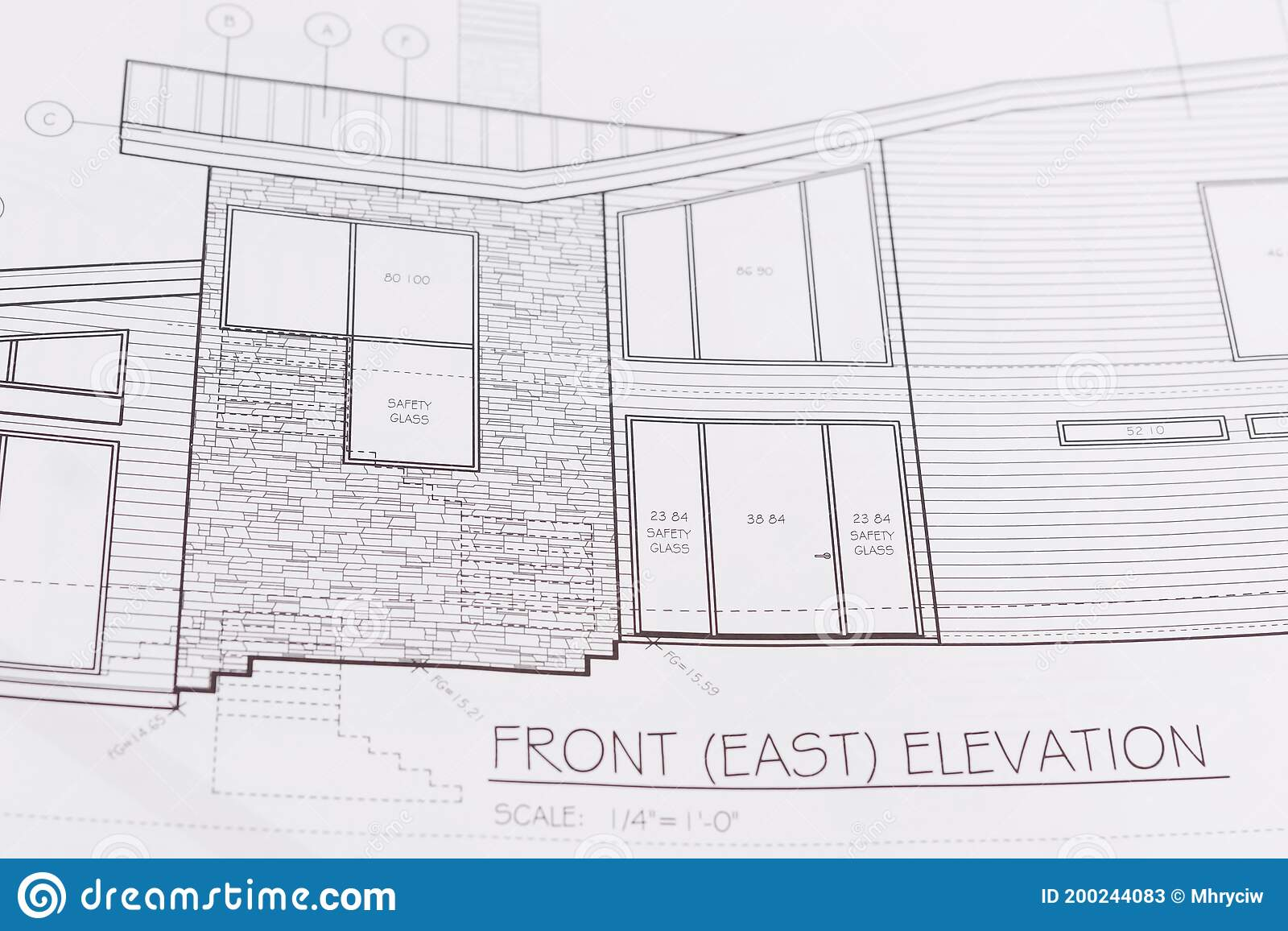 home house exterior construction plan drawing details architectural plans showing wall sections siding custom designed 200244083