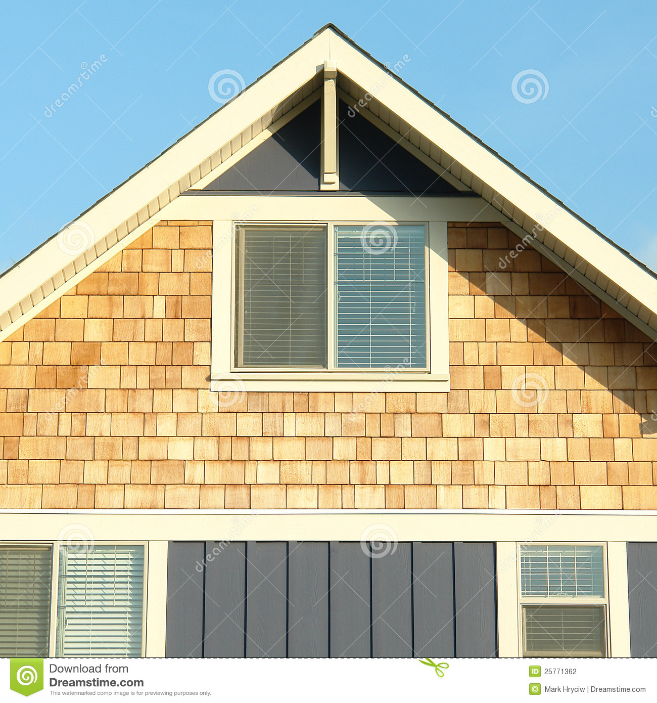 Home House Exterior Siding Roof Gable Stock Photo Image