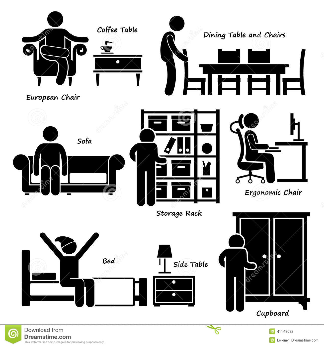 Home House Furniture Cliparts Stock Vector Image 41148032