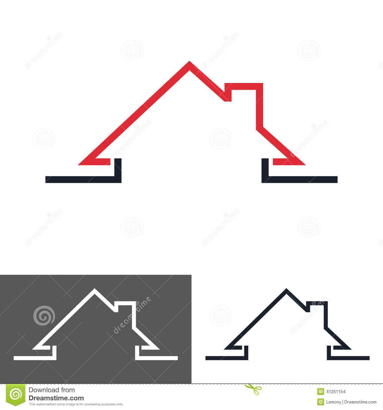 Home house icon logo stock vector image of creative for Household design logo