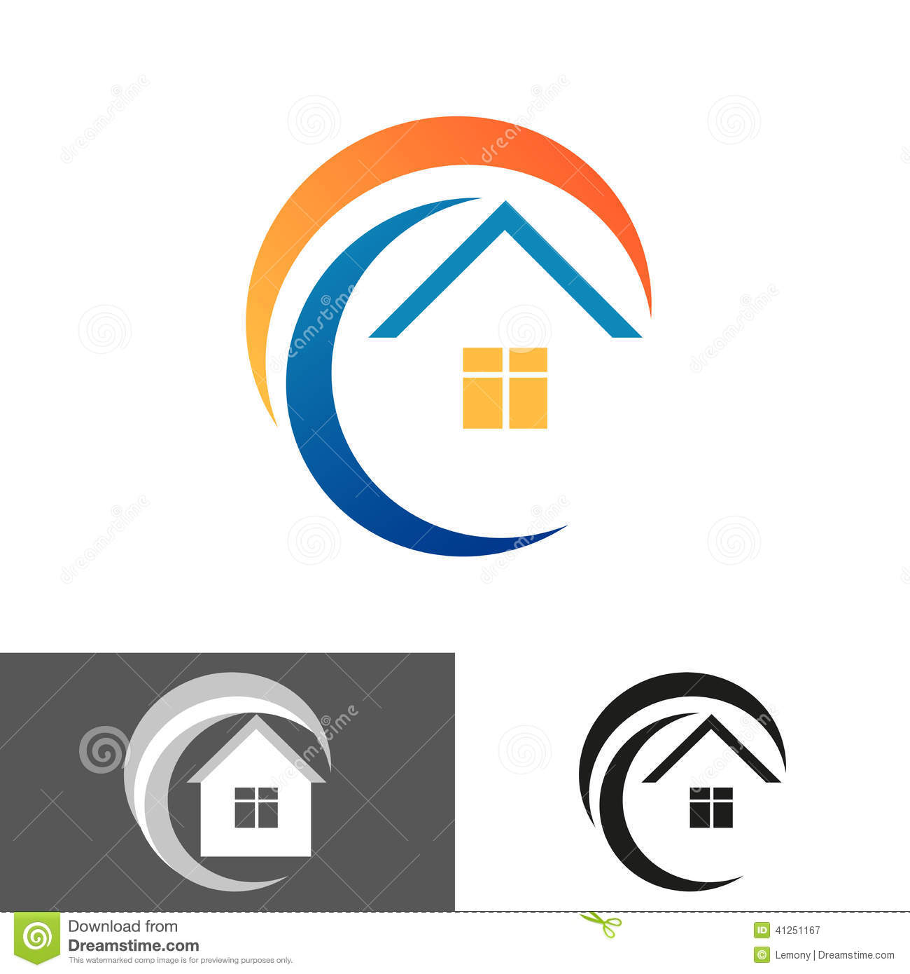 Home house icon logo stock vector image 41251167 for Household design logo