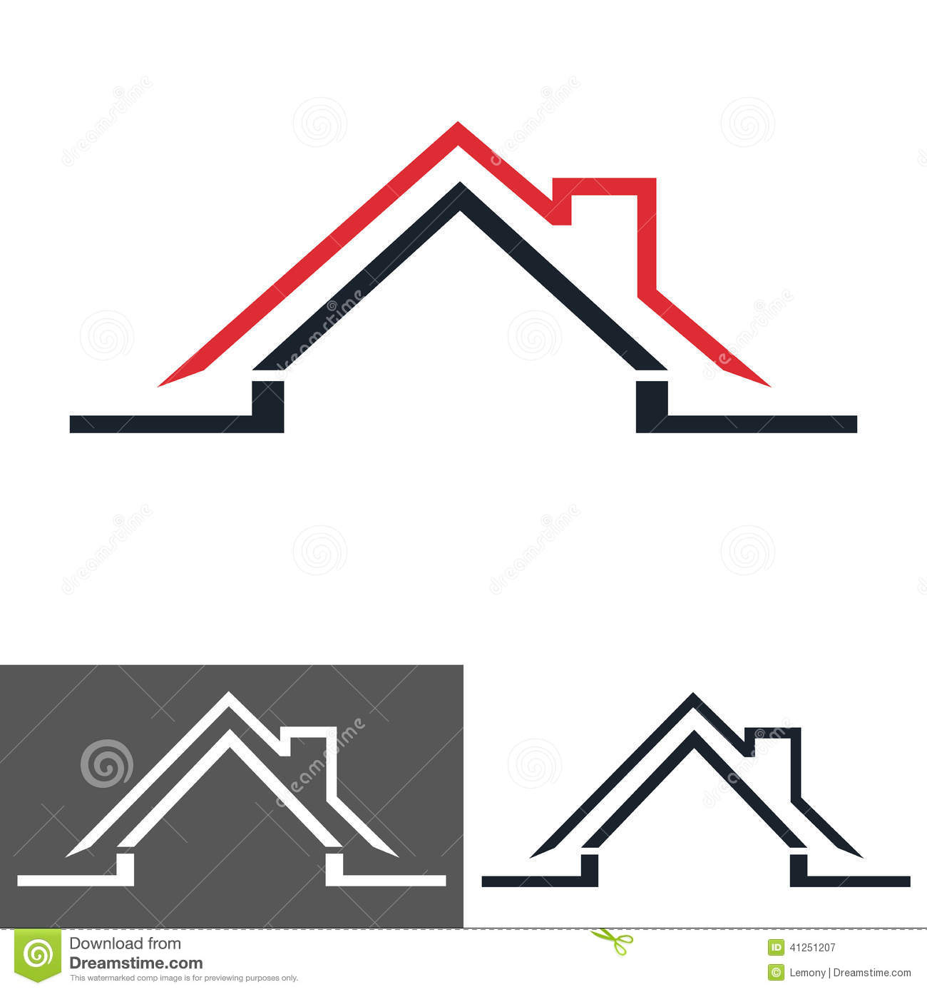 Home house icon logo stock vector image 41251207 for Household design logo