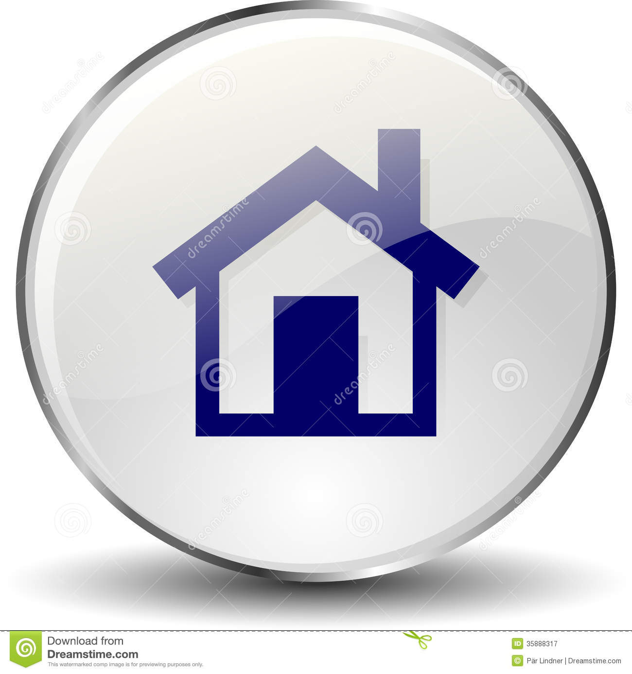Home Icon Button Royalty Free Stock Photography Image