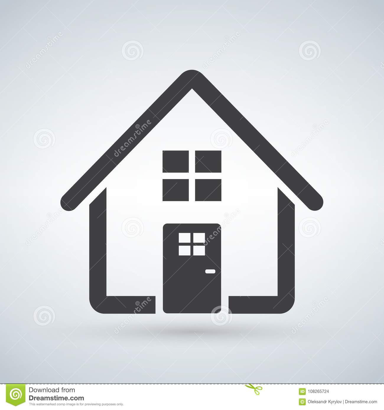 Home Icon . House. Enter, Welcome Concept. Building Sign Isolated On ...