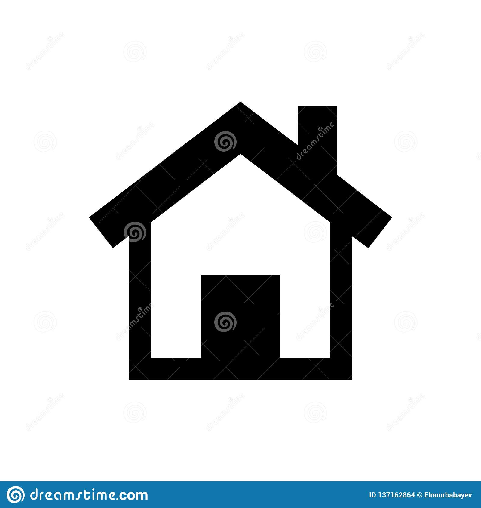 Home Icon In Trendy Flat Style Isolated On Grey Background Homepage Symbol For Your Web Site Design Logo App Ui Vector Stock Illustration Illustration Of Button Element 137162864