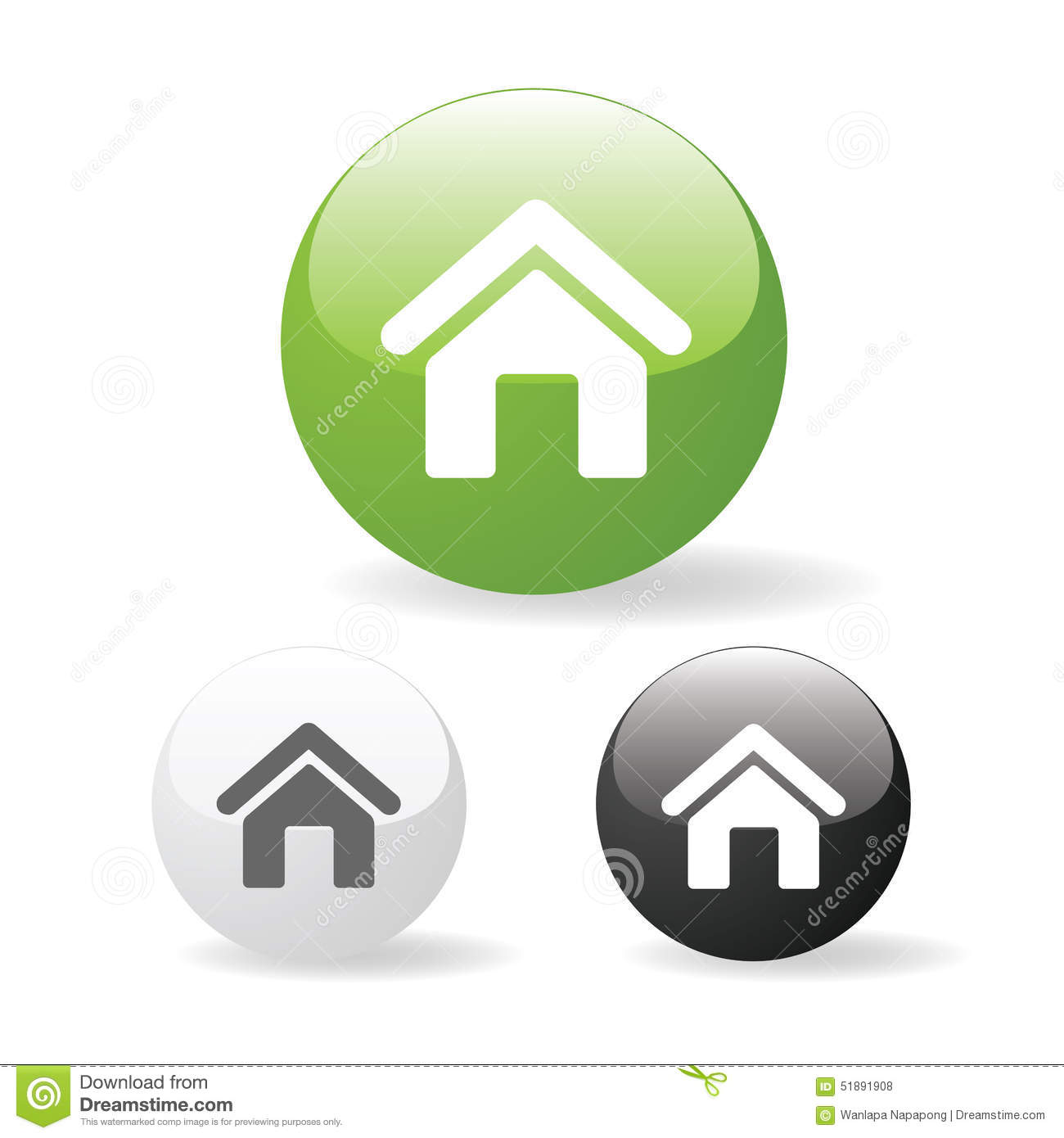 Website Home Icon White Green home icon web - stock@Share ...