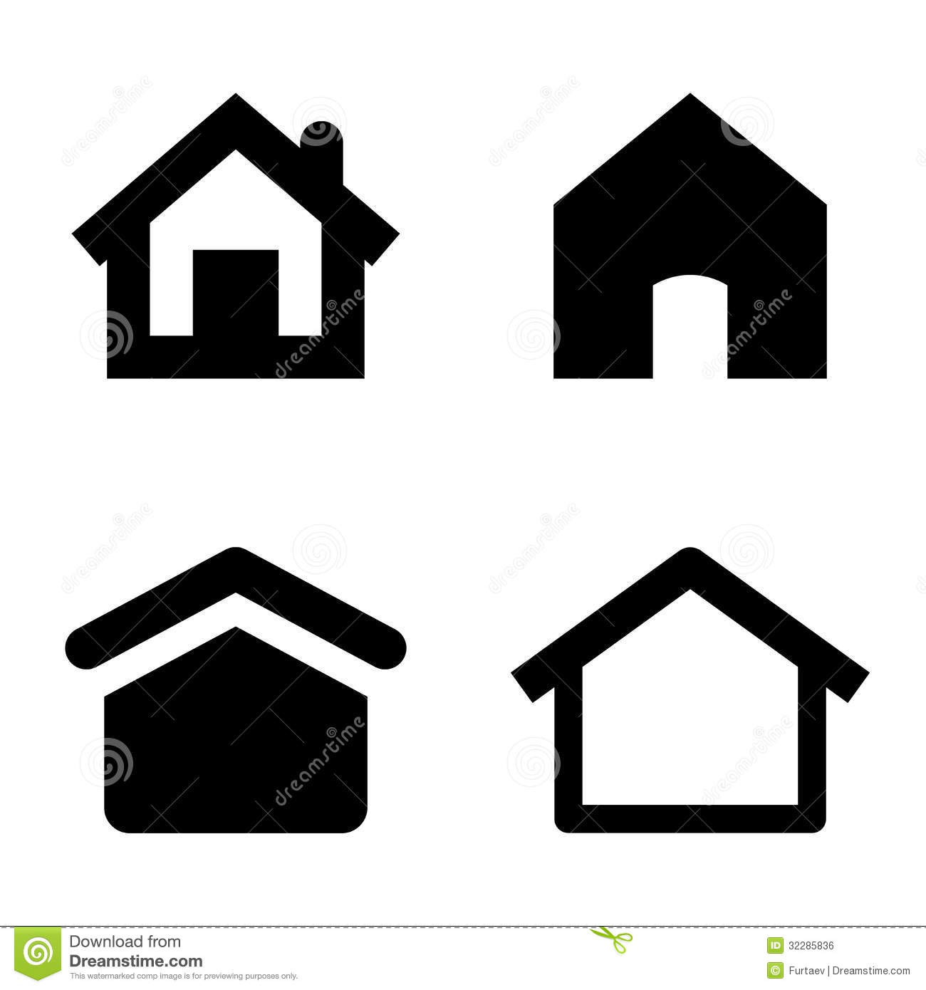 8c6bcccba10b Home icons stock vector. Illustration of construction - 32285836