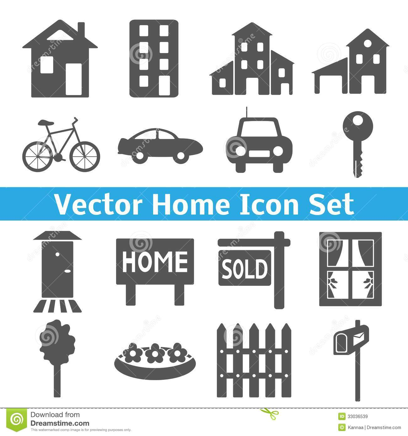 Home icons set. Real estate. Vector illustration for your domestic ...