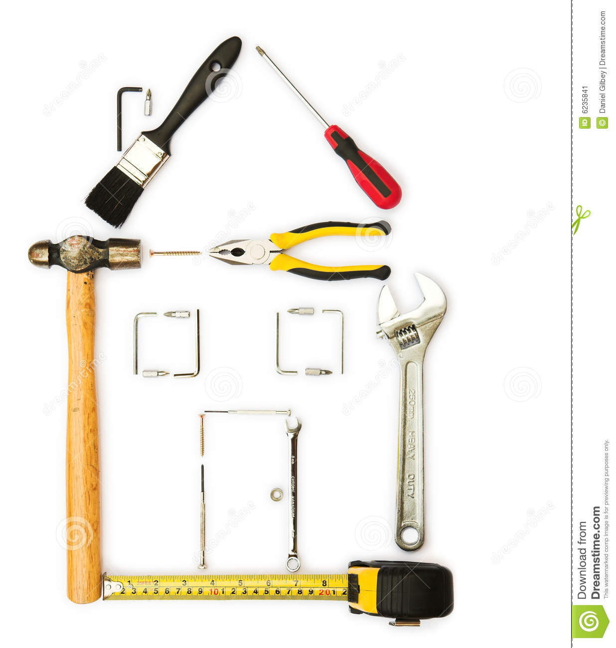 Home improvement tools clipart for House remodeling tools