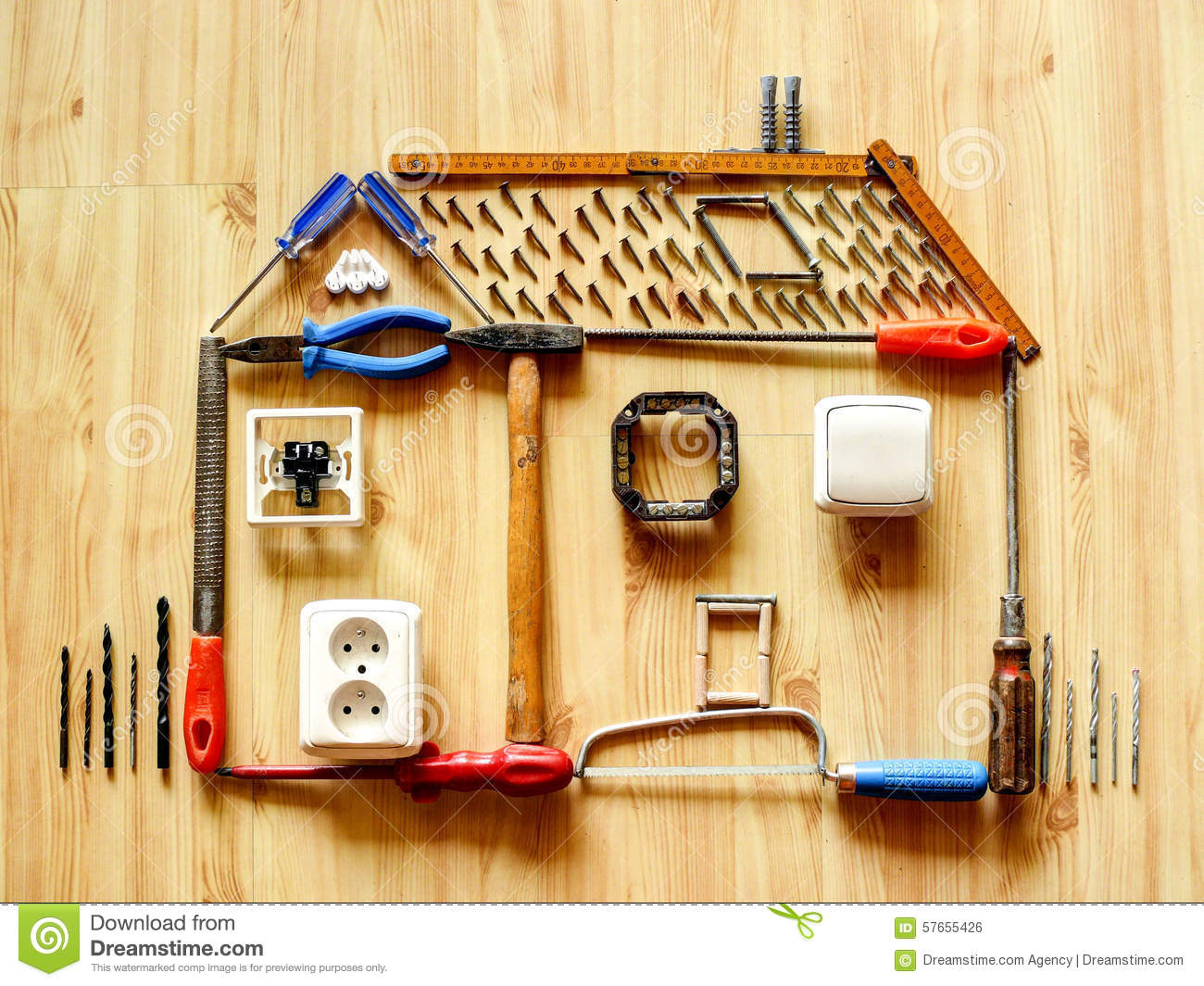 Home improvement concept. Home Improvement Concept Stock Photo   Image  57655426