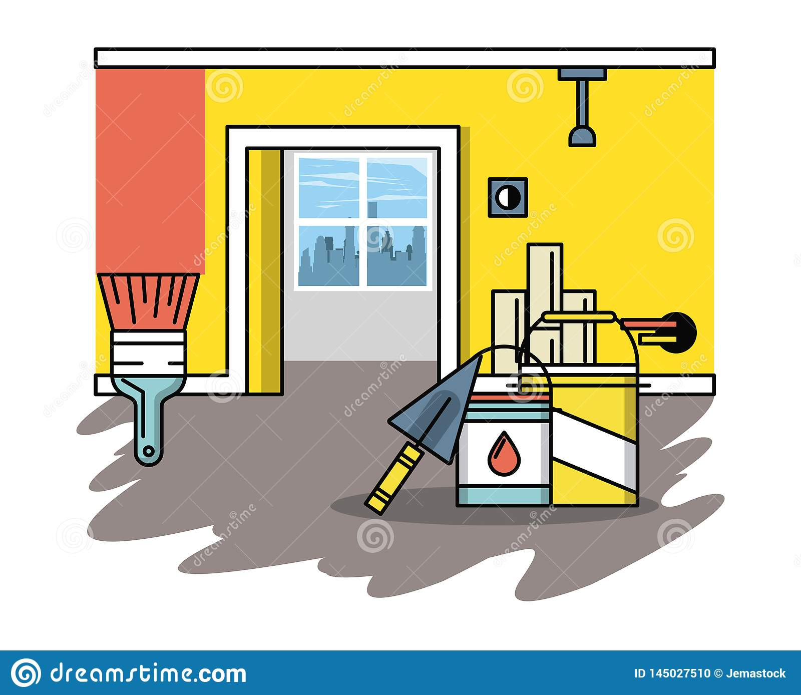 Home improvement and tools stock vector. Illustration of ... on graphic design construction company, graphic design home repair, clip art home construction, project management home construction, portfolio construction, graphic design home office furniture, prefab home construction, infographic home construction, glass home construction,