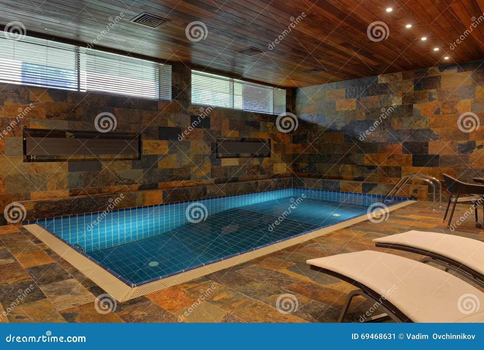 Home Indoor Pool Stock Photo - Image: 69468631
