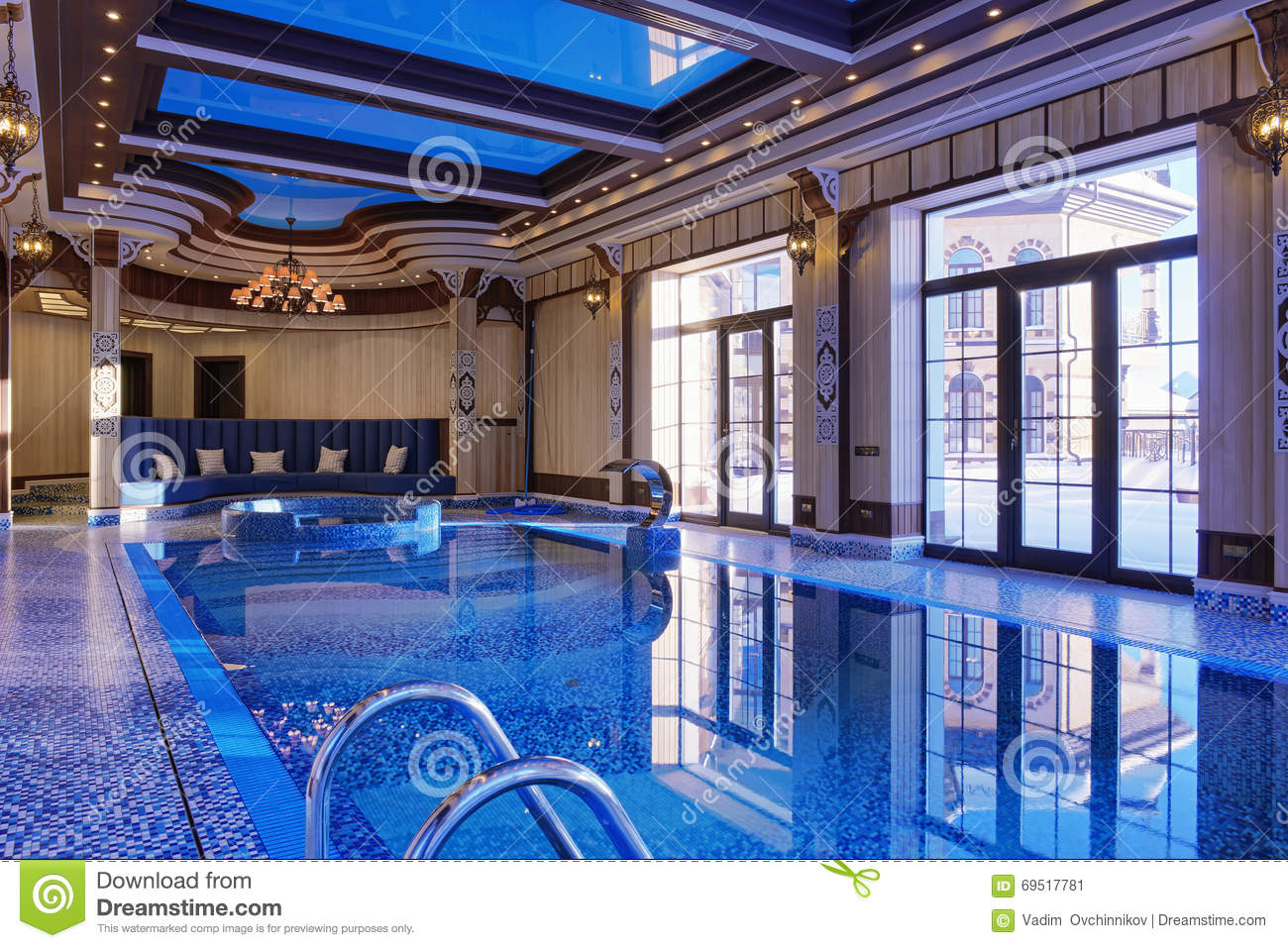 Home Indoor Pool home indoor pool stock photo - image: 69517781