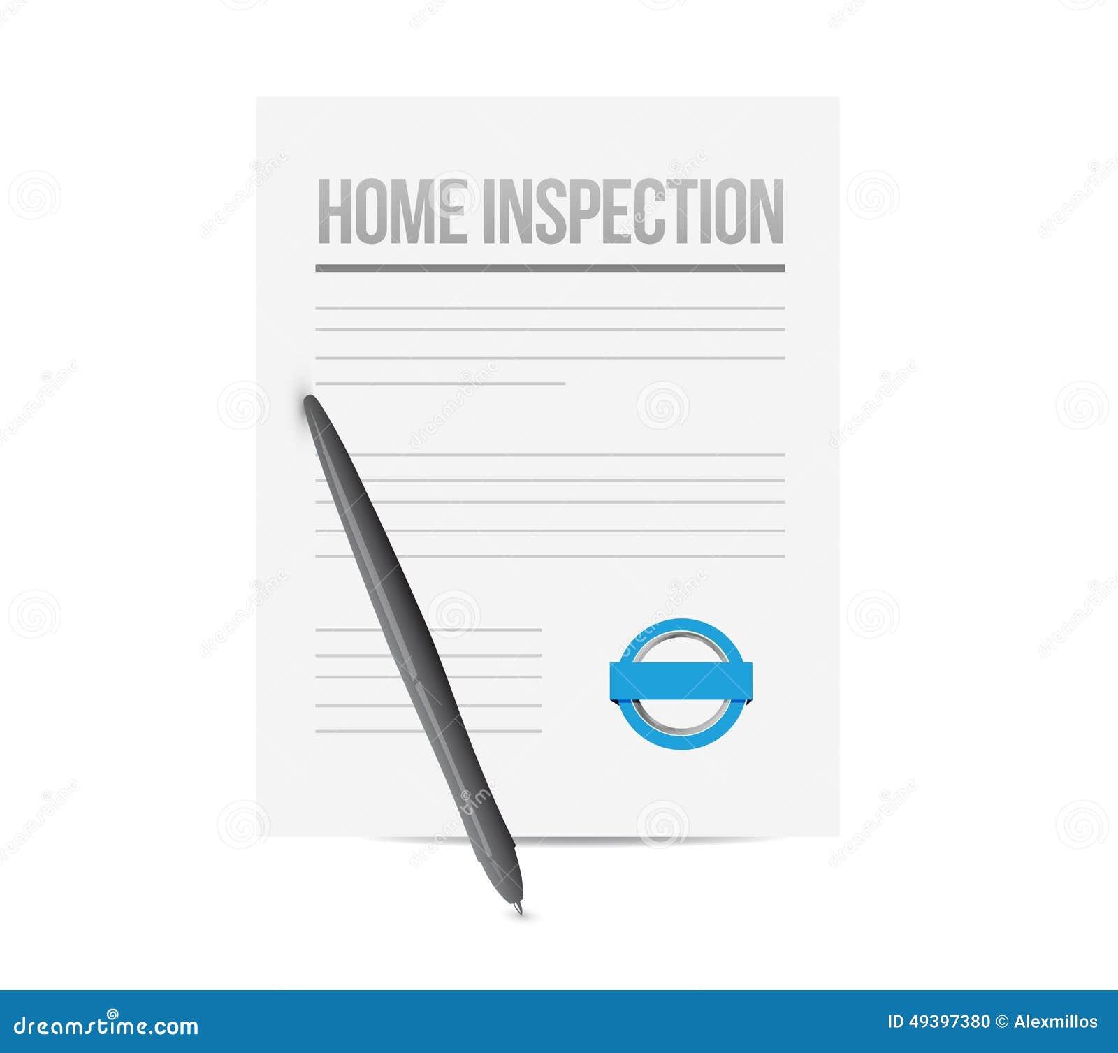 Home Inspection Paperwork Illustration Design