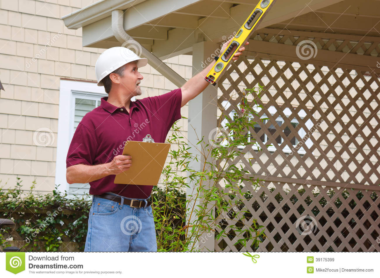 Home inspector house building repair contractor stock for Home inspection on new build