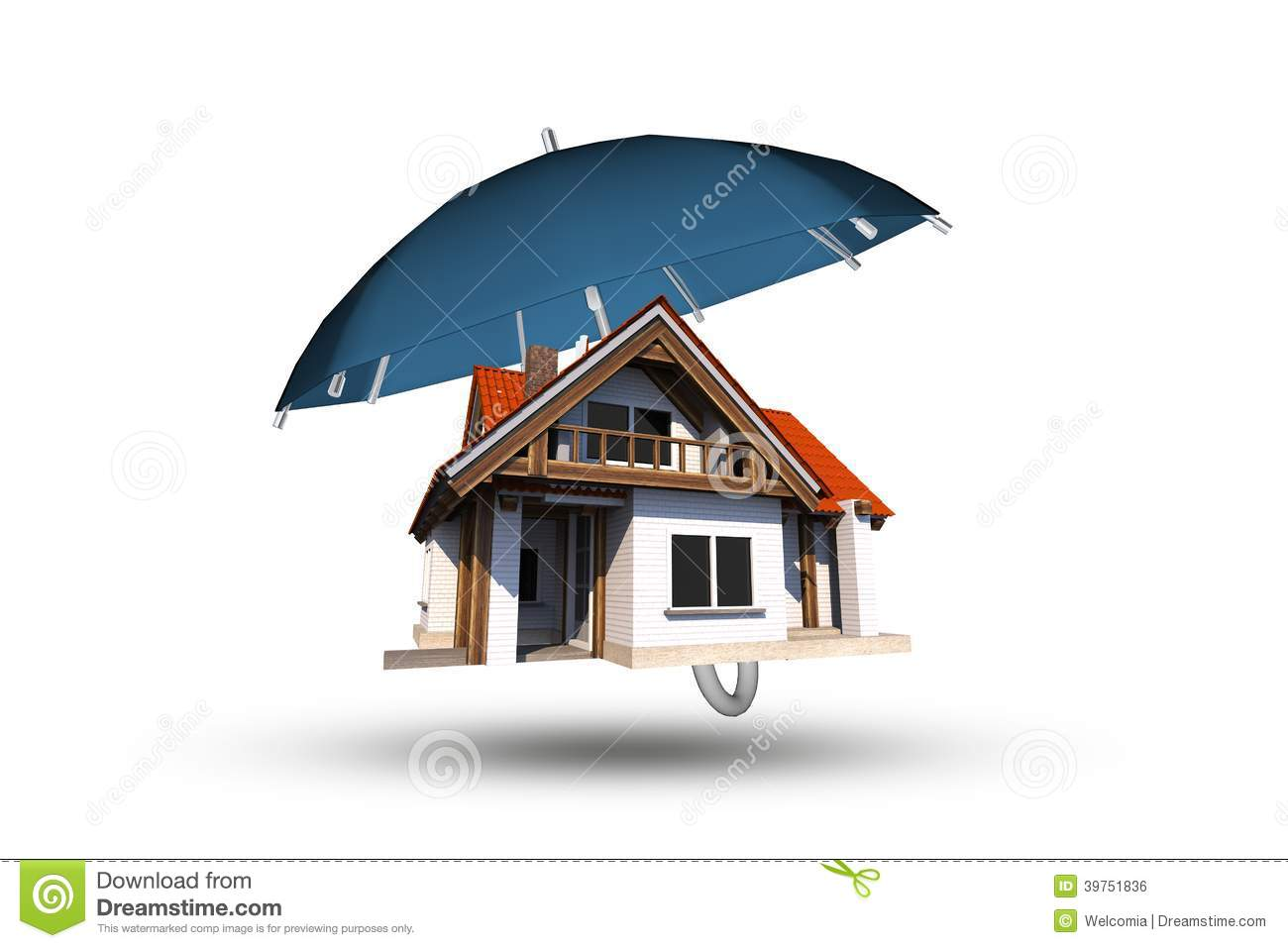 Home Insurance Coverage Stock Illustration Image 39751836