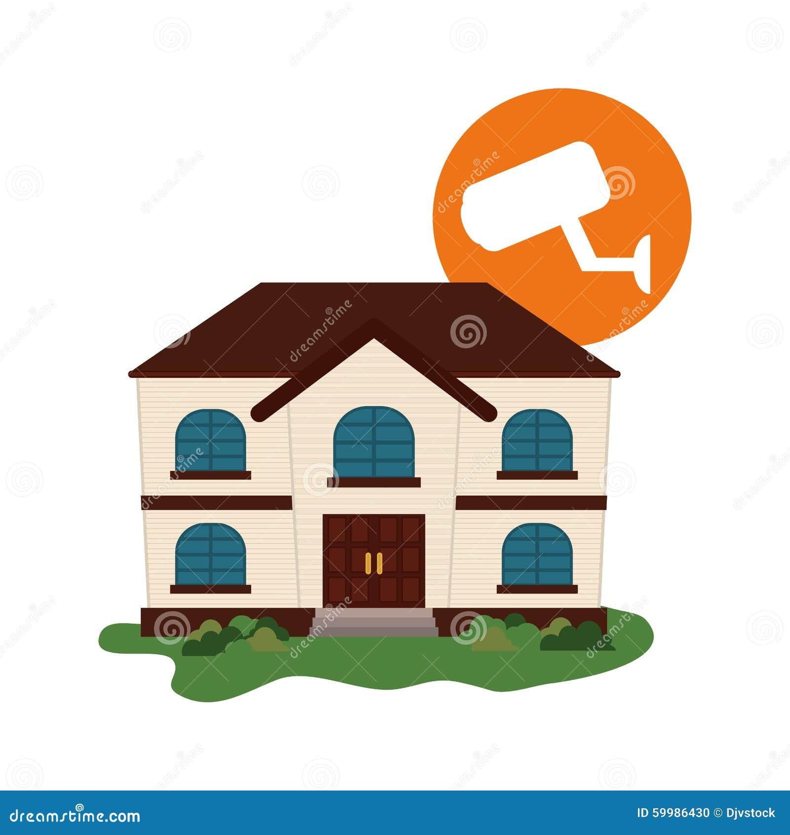 Home insurance design stock vector. Illustration of cctv ...