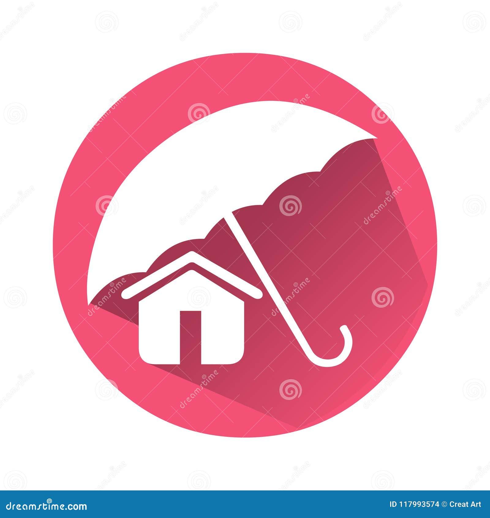 Home Insurance Icon.Vector Home Icon Logo.Safe Home Icon ...