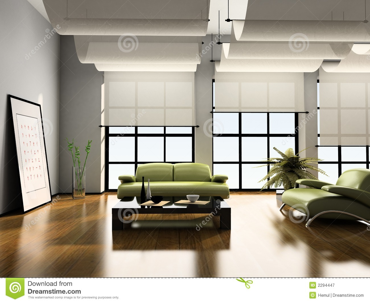 Home Interior 3d Royalty Free Stock Photography Image