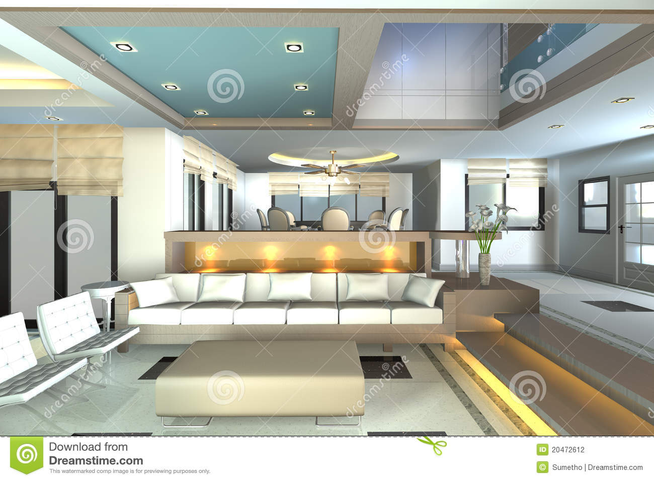 Home Interior 3d Rendering Stock Photography Image 20472612