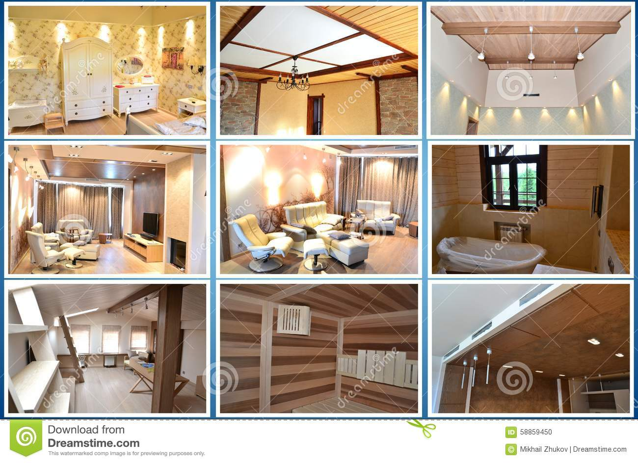 Home interior collage stock photo image 58859450 for Home interior collection