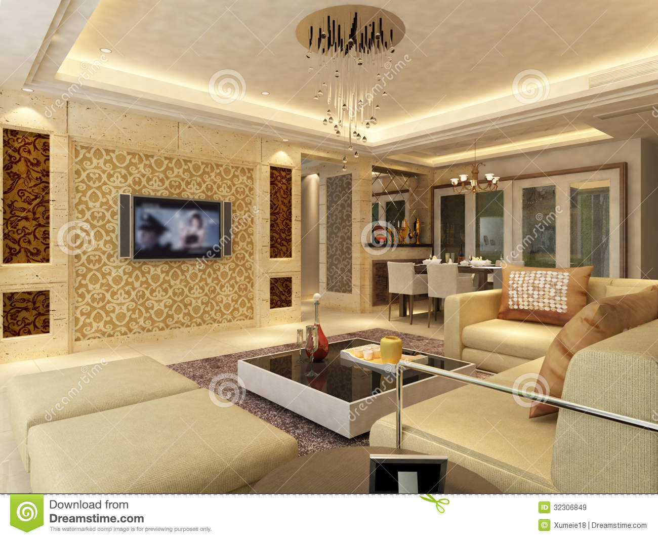 Home Interior 3d Rendering Royalty Free Stock Images ...