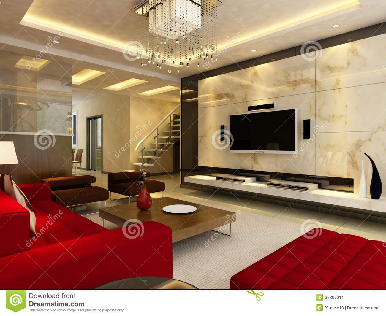 Home Interior 3d Rendering Stock Image Image 32307011