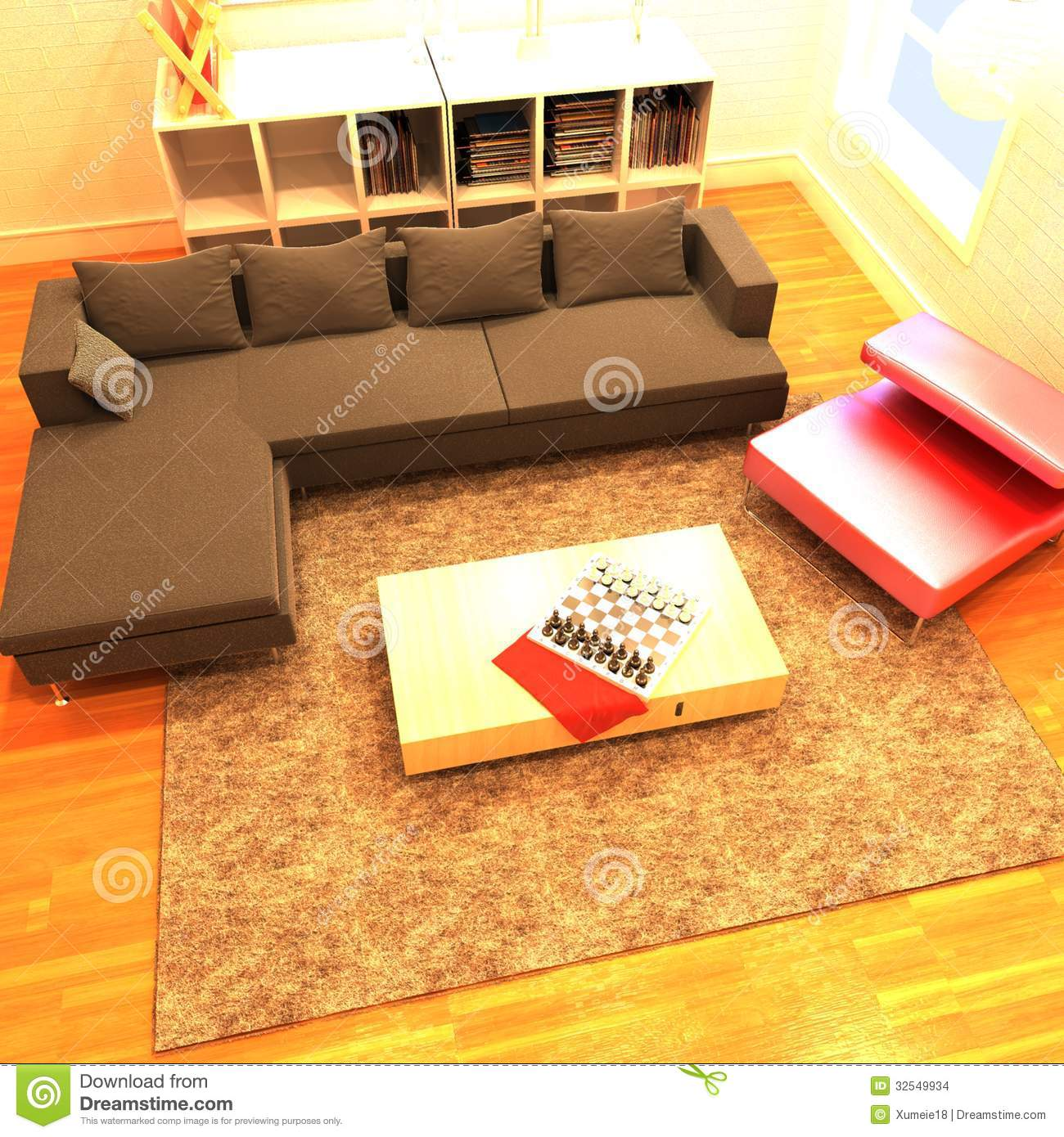 Home Interior 3d Rendering Stock Images Image 32549934