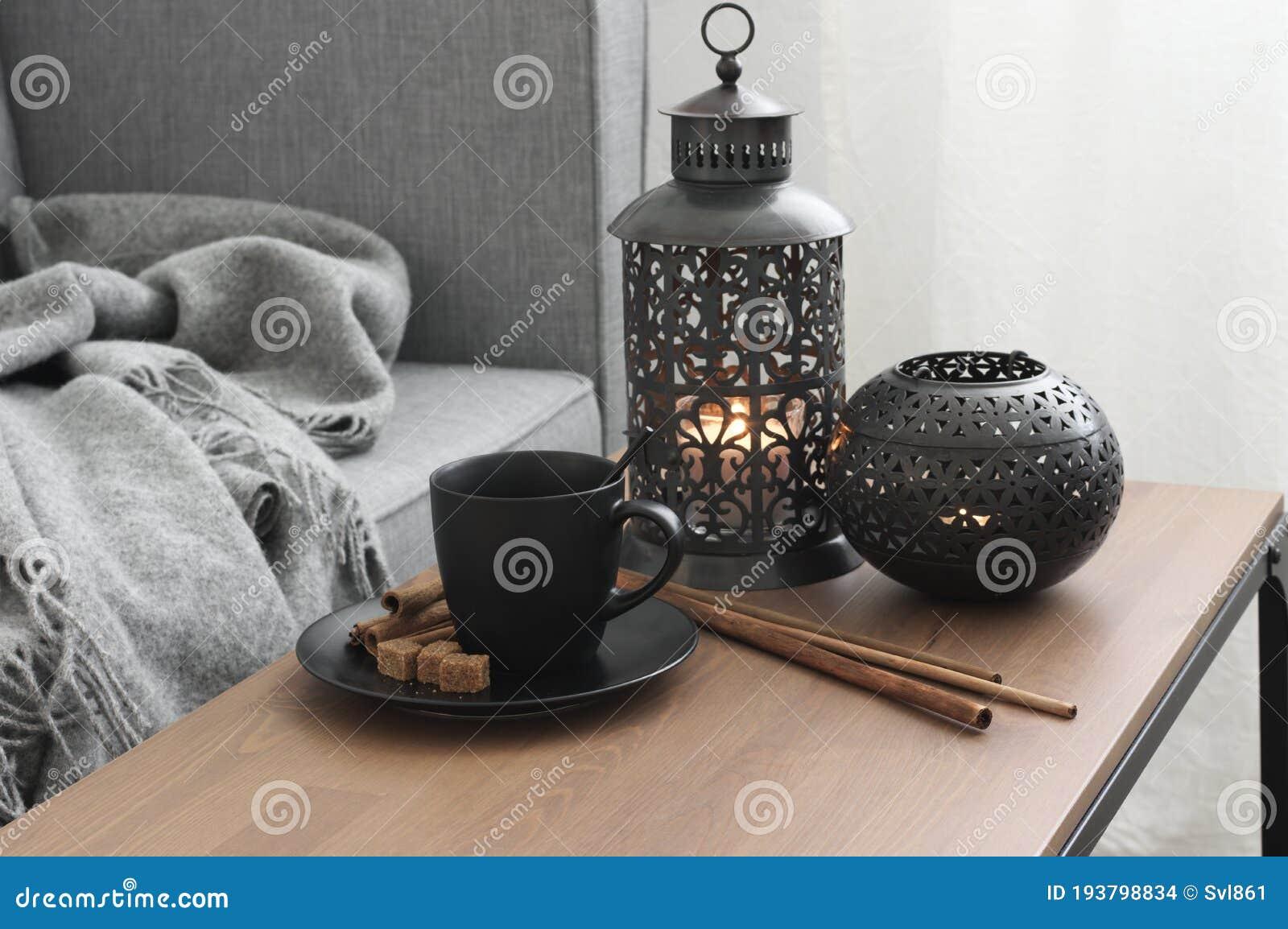 Home Interior Decor In Living Room Stock Photo Image Of Furniture Lantern 193798834