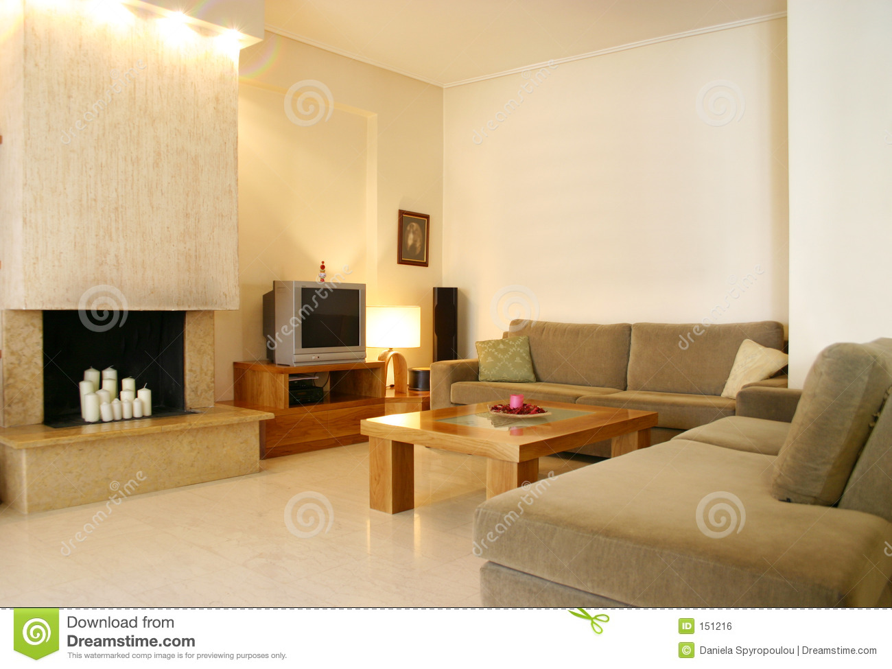 Contemporary Design Home Interior Royalty Free Stock Image 151216
