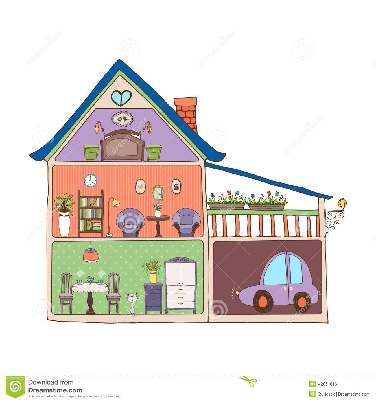 Home interior design and decor stock photo image 42051616 for Interior design images vector