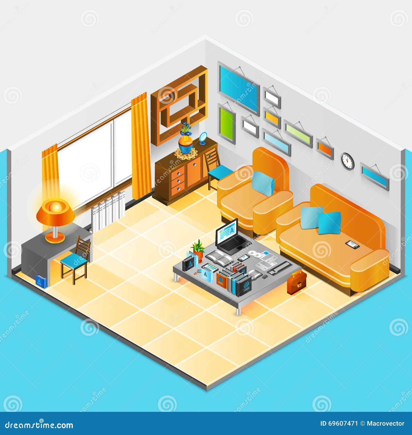 Home interior design stock vector image 69607471 - Home interior design books ...