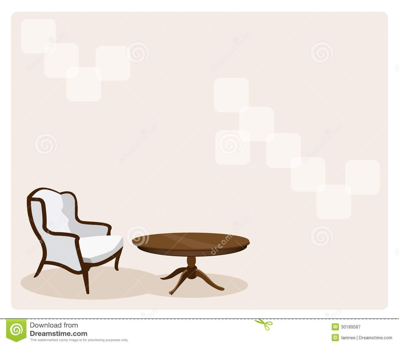 Antique Leather Armchair In Living Room Background Royalty
