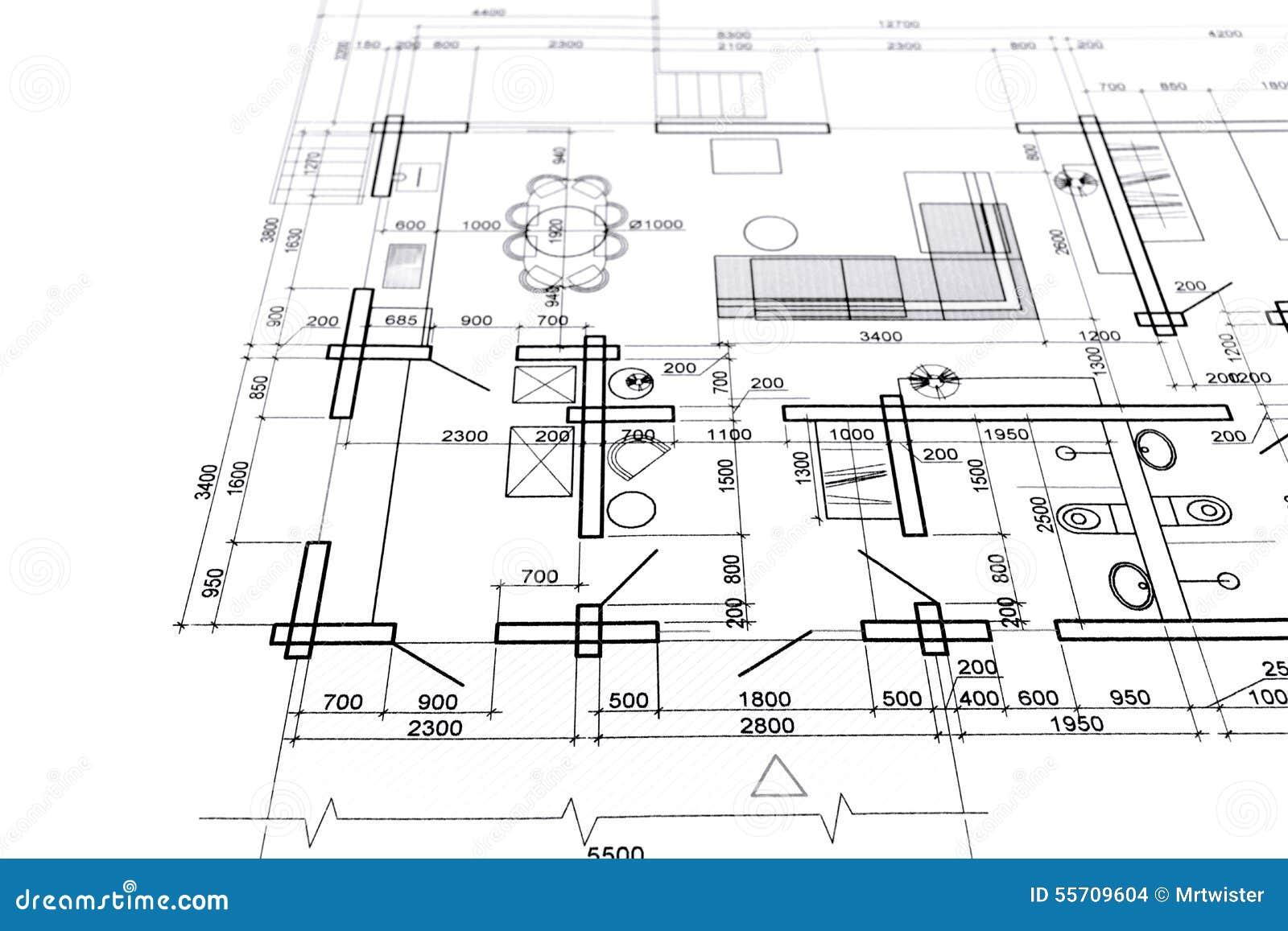 Home Interior Plan Stock Photo Image 55709604